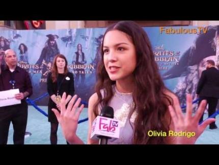 Singer 'Olivia Rodrigo' at 'Pirates of the Caribbean 5' ocean carpet...