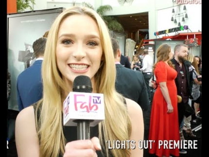 Greer Grammer at the 'LIGHTS OUT' premiere on Fabulous TV