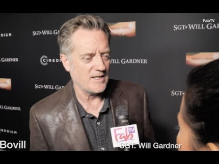 "Kirk Bovill talks about ""Sgt.Will Gardner"" at the premiere"