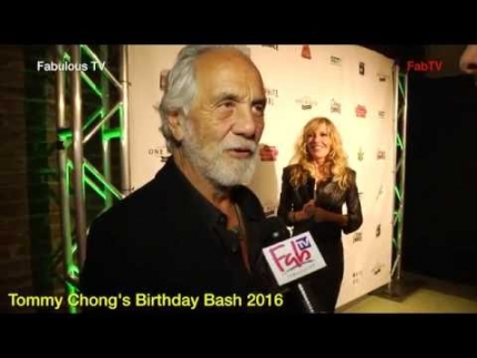 Tommy Chong at his \'Birthday Bash 2016\' Fabulous TV