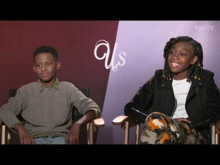 Shahadi Wright Joseph & Evan Alex the kids in Jordan Peele's...