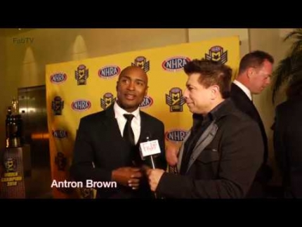 Antron Brown at the 2018 NHRA Mello Yello Awards