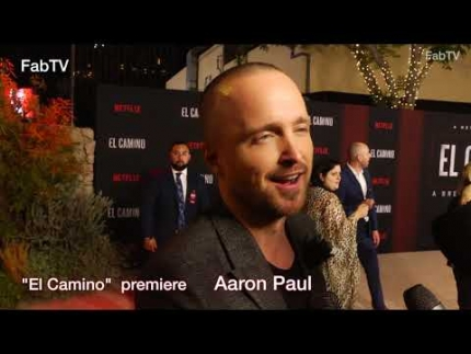 "Aaron Paul at the ""El Camino""  premiere & red carpet"