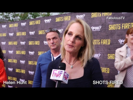 The Governor Helen Hunt talks about 'SHOTS FIRED' on FabulousTV