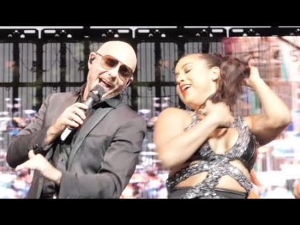 """Pitbull""  Live performance with hot dancer @ Del Mar Fairgrounds San Diego"
