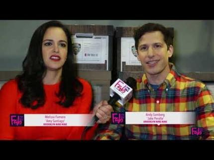 """Brooklyn Nine-Nine""   Andy Samberg & Melissa Fumero"