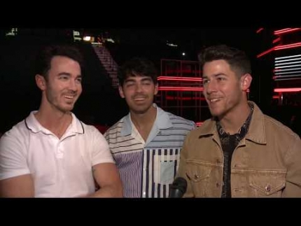 """Jonas Brothers"" back stage in Las Vegas at the ""2019 Billboard Awards"""