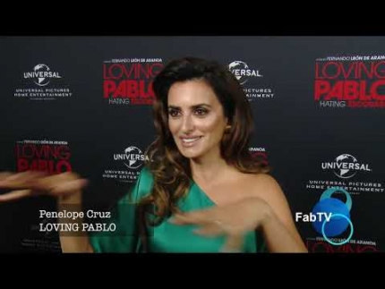 "Penelope Cruz at the ""LOVE PABLO"" red carpet on FabTV"