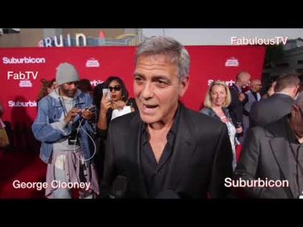 George Clooney at his 'Suburbicon' Premiere on FabulousTV