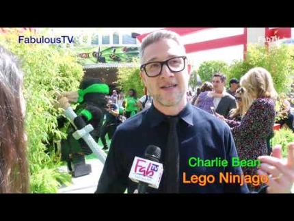 Director Charlie Bean arrives at'The LEGO Ninjago movie' green carpet