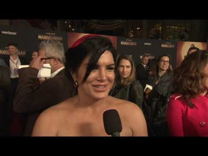 THE MANDALORIAN red carpet with star Gina Carano