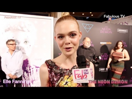 Elle Fanning star of The Neon Demon on Fabulous TV