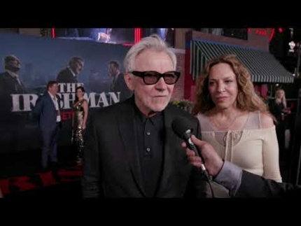 The IRISHMAN red carpet & premiere night with Harvey Keitel