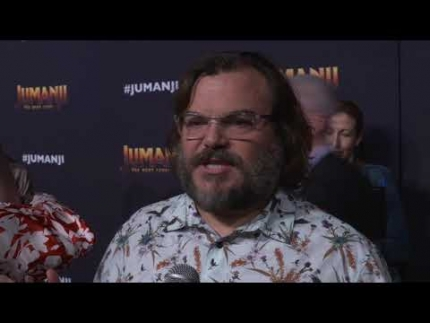 Jack Black red carpet Jumanji: The Next Level in Cabo San Lucas!