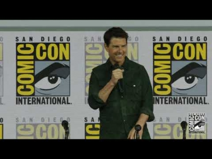 "Tom Cruise at the ""Top Gun: Maverick"" press conference Comic Con"