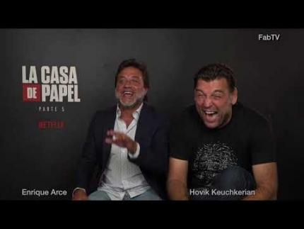 """Money Heist """"La Casa De Papel"""" NETFLIX interview with Enrique Arce & Hovik Keuchkerian"""