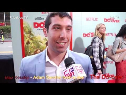 Max Kessler Adam Sandler look alike at 'The Do Over' premiere at LA Live #‎netflix #‎fabulous tv