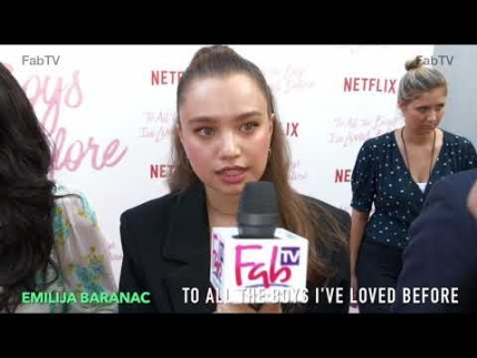 """Emilija Baranac at the """"To All the Boys I've Loved Before""""..."""