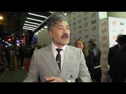 "Taika Waititi at the ""JOJO Rabbit""  premiere"