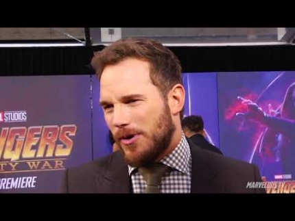 Avengers:Infinity War Red Carpet Chris Pratt Star Lord Peter Quill
