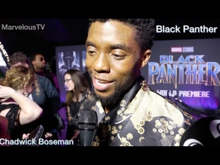 Last night with Chadwick Boseman 'BLACK PANTHER' red carpet premiere