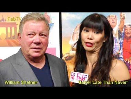 "William Shatner gets grumpy on ""Better Late than Never"" on FabTV"