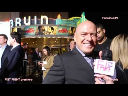 Dean Norris talks about justice on the FIST FIGHT red carpet!