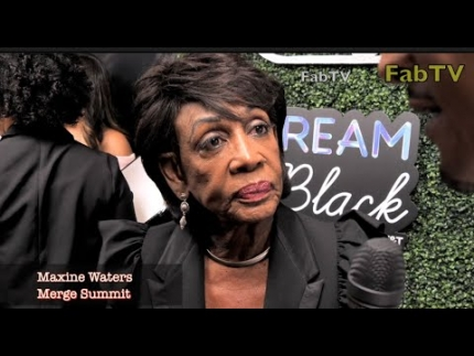 Maxine Waters talks about TRUMP at the MERGE SUMMIT 2018