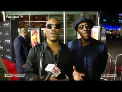 "Eddie Murphy & Arsenio Hall talk about Coming to America 2 at ""MR. CHURCH"" premiere on FabulousTV  FabT"