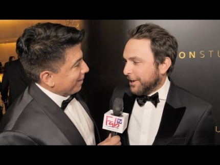 "Charlie Day at the ""2020 Golden Globes"" Amazon Studios"