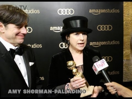 "Amy Sherman-Palladino ""The Marvelous Mrs. Maisel"" Amazon Studios @ Golden Globes on  FabTV"