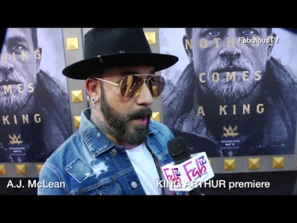 A.J. McLean talks about 'KING ARTHUR' at the premiere