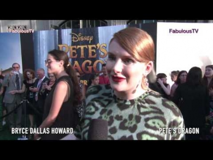 Actress 'Bryce Dallas Howard' Pete's Dragon world premiere on Fabulous TV