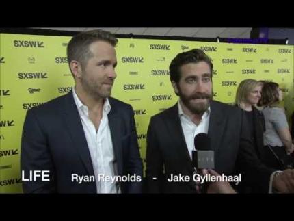 Ryan Reynolds & Jake Gyllenhaal at the 'LIFE' premiere at 'SXSW' on FabulousTV