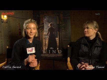 """the Wind"" with actress Caitlin Gerard & director..."
