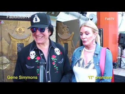 Gene Simmons at Stephen King's 'IT' premiere FabulousTV