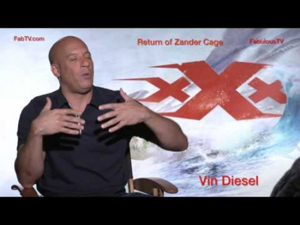 Vin Diesel all out about the new XXX 'Return of Xander Cage' film Fabulous TV