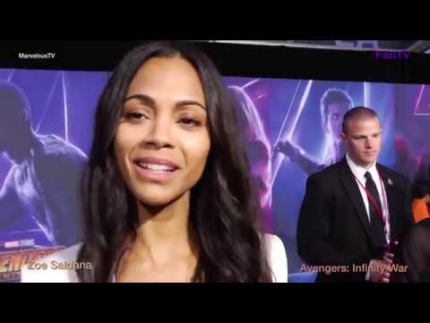 In SPANISH with Zoe Saldana at the Avengers  Infinity War Red Carpet & Premiere