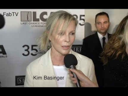 "Kim Basinger at the ""LAST CHANCE for Animals"""