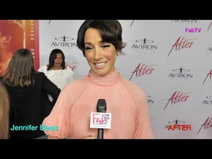 "The beautiful Jennifer Beals  at the  ""AFTER""  premiere"