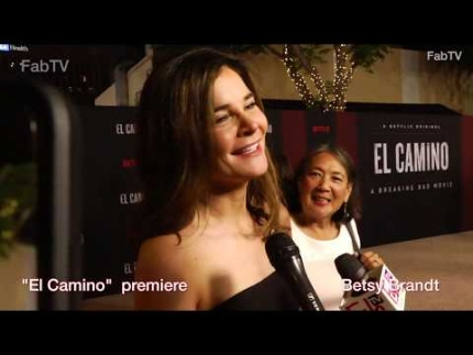 "Betsy Brandt at ""EL CAMINO"" keeps her secret  premiere & red carpet"