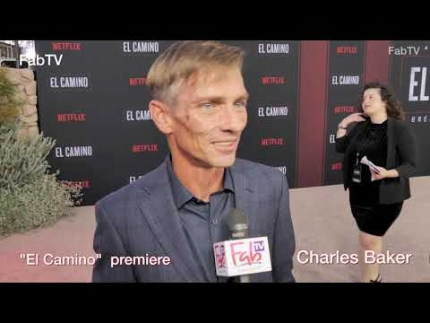 "CHARLES BAKER arrives at the ""EL CAMINO"" premiere & red..."