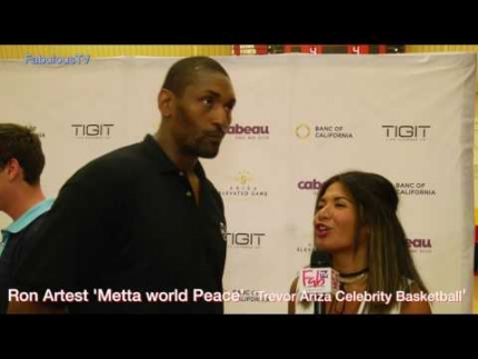 Ron Artest at Trevor Ariza's Celebrity Basketball Game on FabulousTV