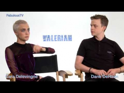 Cara Delevingne  & Dane DeHaan on talk about  Valerian on FabulousTV