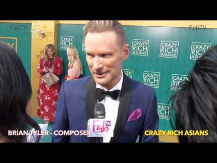 "Brian Tyler - Composer  of ""Crazy Rich Asians"" at the  world premiere"