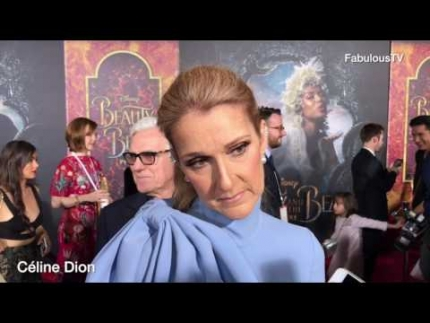 Céline Dion at 'Beauty and the Beast' premiere on FabulousTV