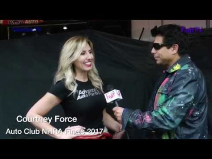Courtney Force at the 'Auto Club NHRA Finals' 2017 on FabTV