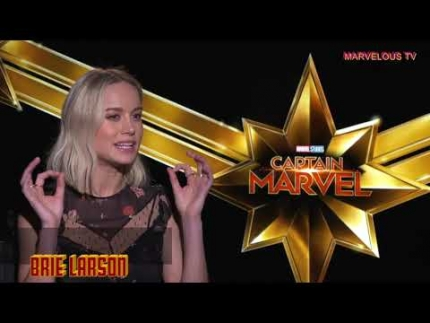 "Brie Larson is ... ""Captain MARVEL"""