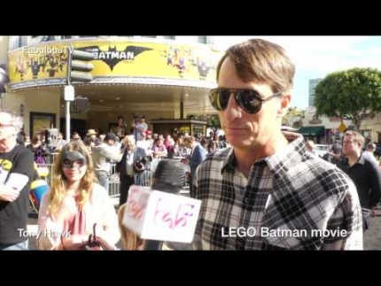 Skater Tony Hawk at the 'LEGO Batman' movie