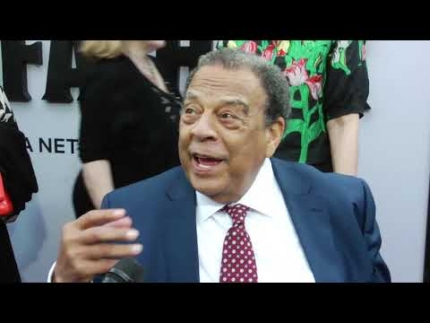 "Andrew Young  arrives at ""The Black Godfather"" premiere at Paramount Pictures"